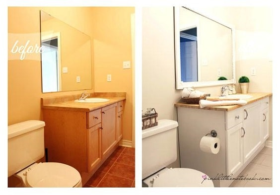 Painting Bathroom Vanity Before And After 2-min