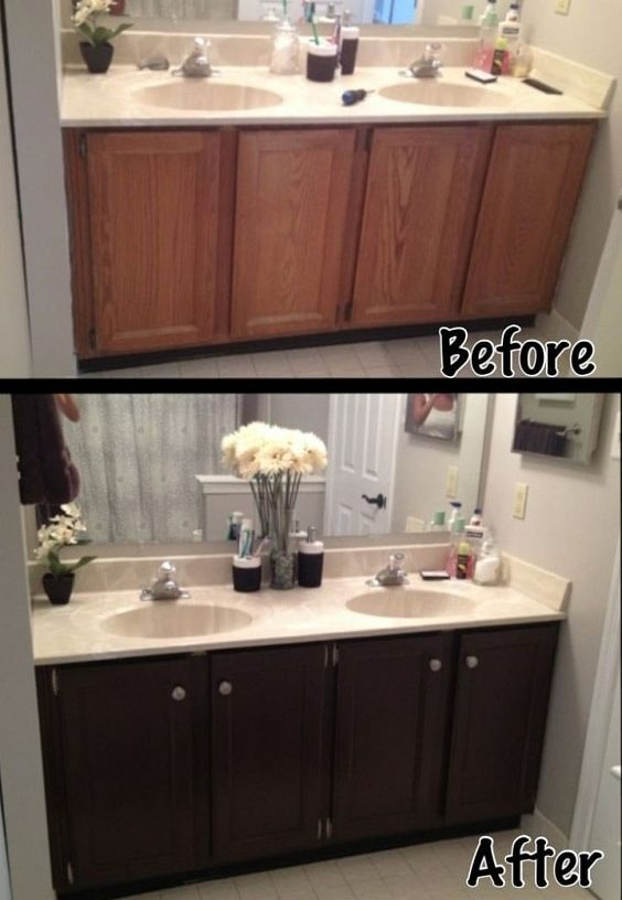 20 Smartest Ways Of Painting Bathroom Vanity Before And After