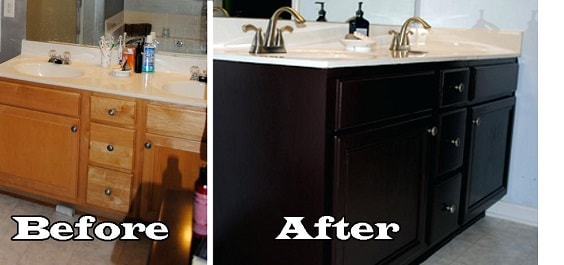 Painting Bathroom Vanity Before And After 25-min