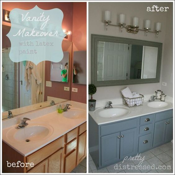 Painting Bathroom Vanity Before And After 3-min