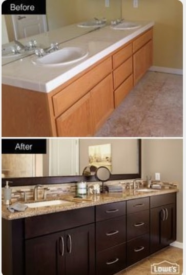 Painting Bathroom Vanity Before And After 9-min