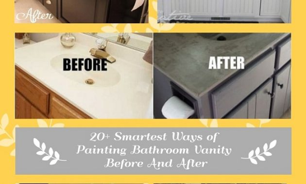Painting Bathroom Vanity Before And After pinterest