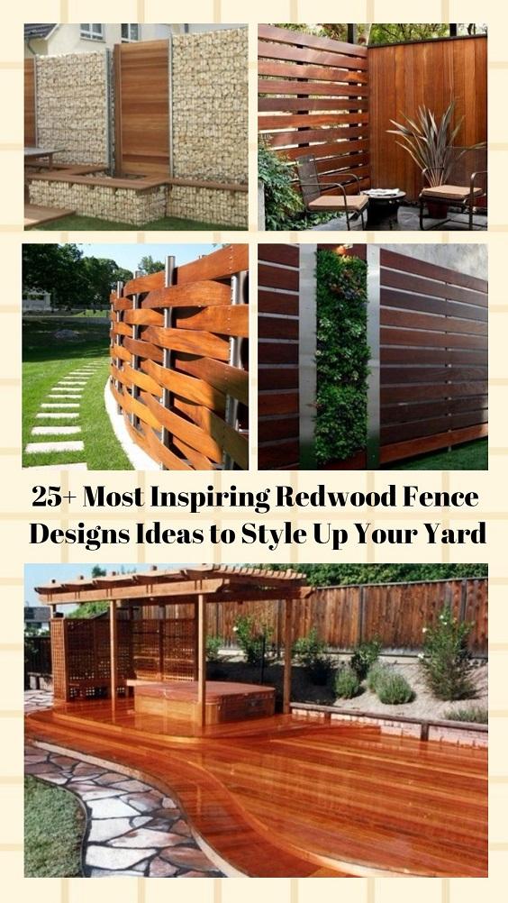 Redwood Fence Designs pinterest