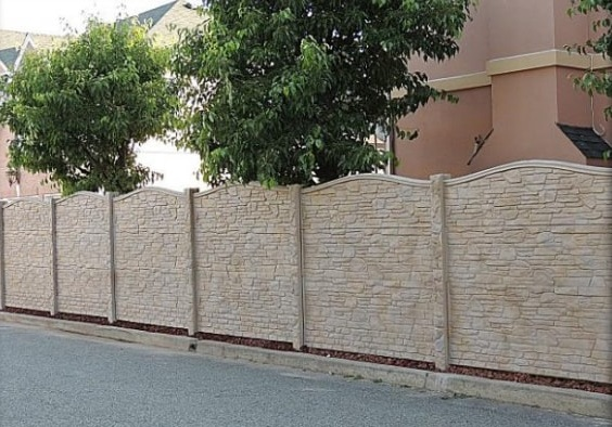 concrete fencing design ideas 13-min