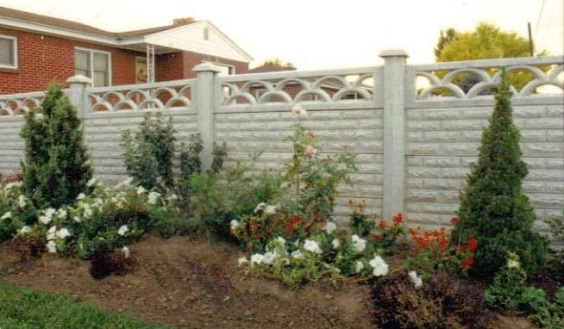 concrete fencing design ideas 15-min