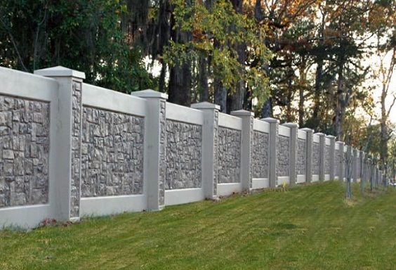 Concrete Fencing Design Ideas 2 Min