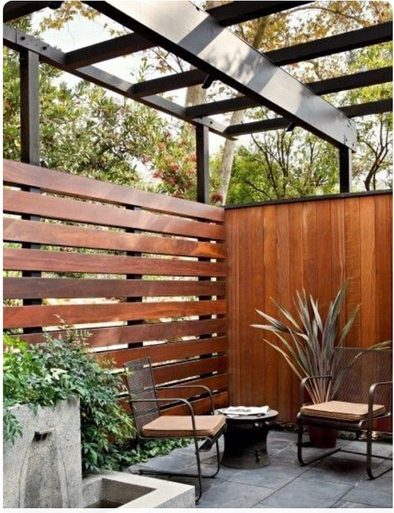 redwood fence designs ideas 1