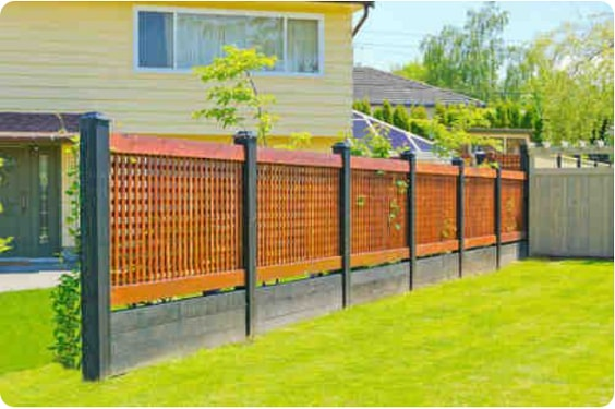 redwood fence designs ideas 10