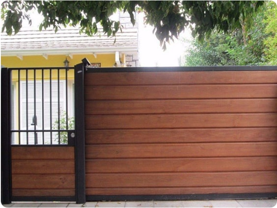 redwood fence designs ideas 12