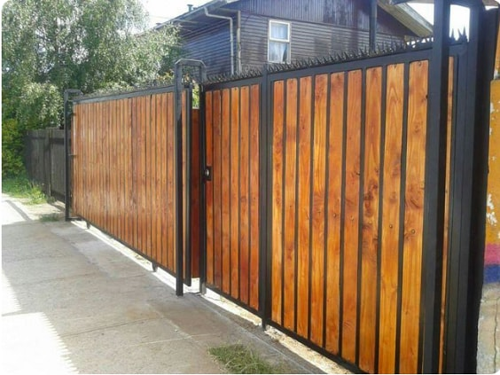 redwood fence designs ideas 13