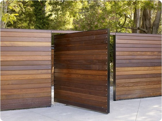 redwood fence designs ideas 14