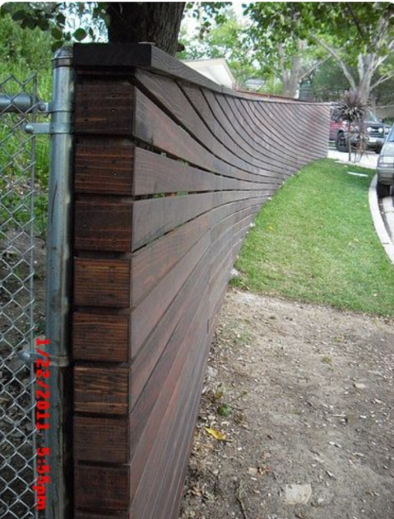 redwood fence designs ideas 15