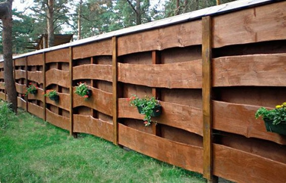 redwood fence designs ideas 16
