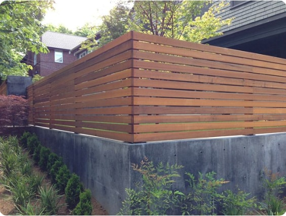 redwood fence designs ideas 17
