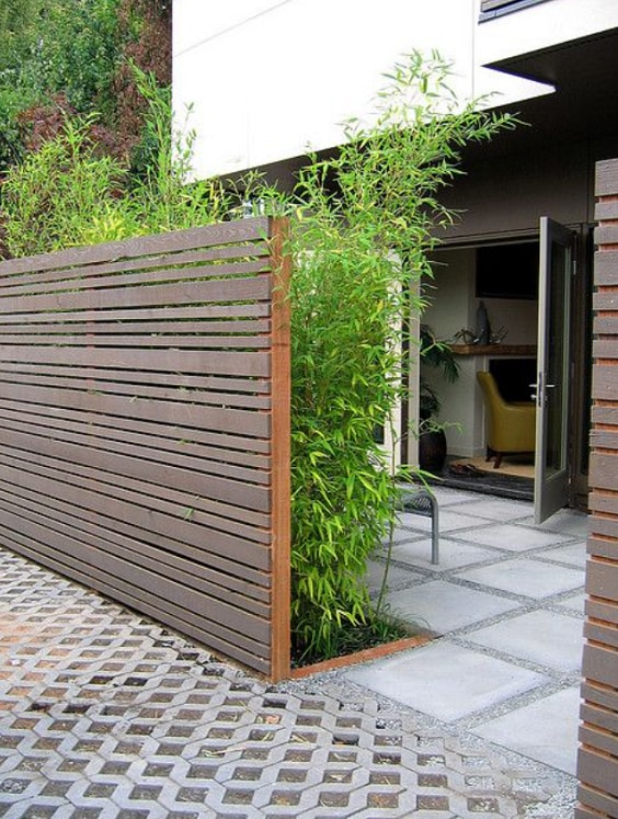 redwood fence designs ideas 19