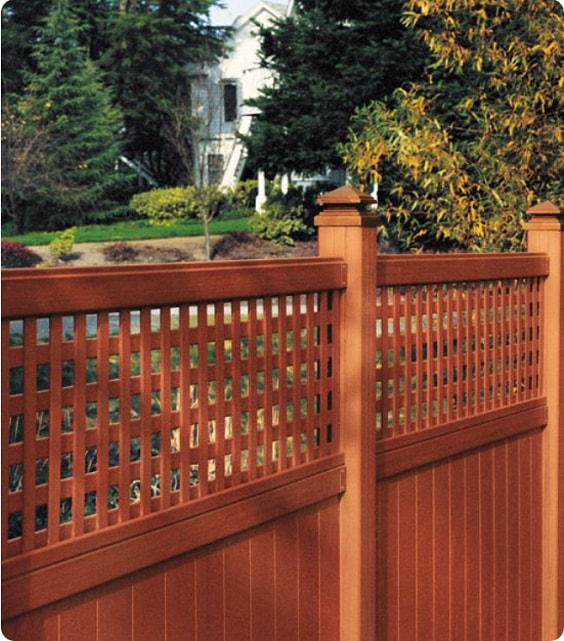 redwood fence designs ideas 2