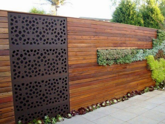 redwood fence designs ideas 20