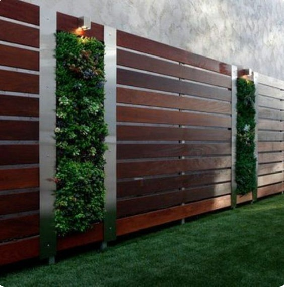 redwood fence designs ideas 21