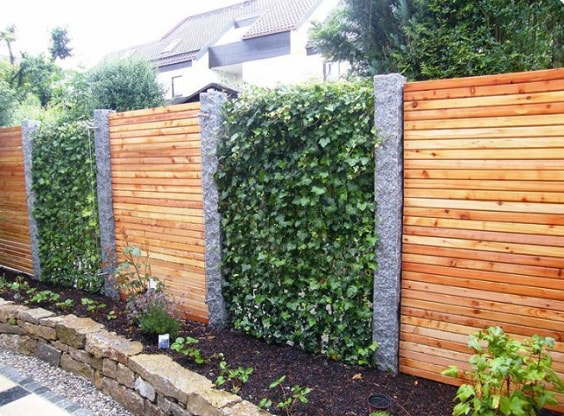 redwood fence designs ideas 22