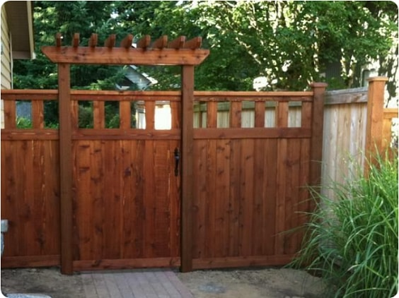 redwood fence designs ideas 3