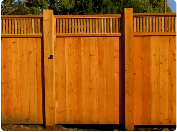 redwood fence designs ideas 4
