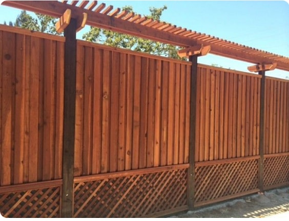 redwood fence designs ideas 5