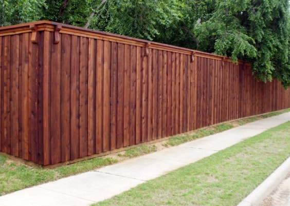 redwood fence designs ideas 6