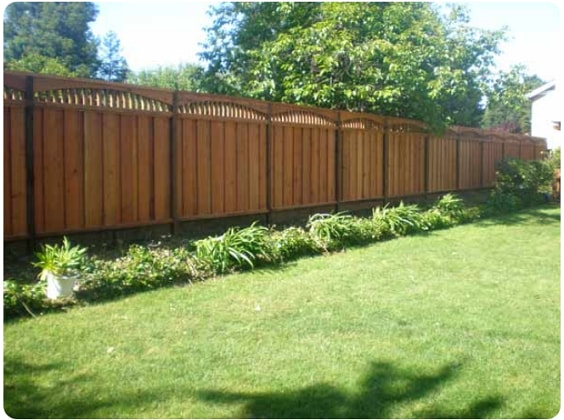 redwood fence designs ideas 7
