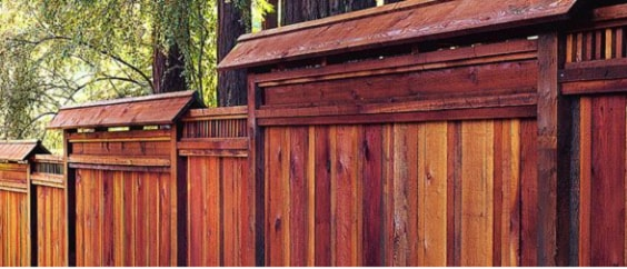 redwood fence designs ideas 9