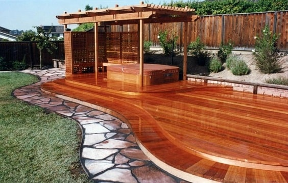 redwood fence designs ideas-min