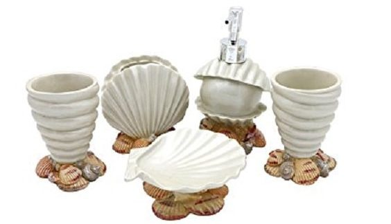 13 beautifully worth to buy seashell bathroom set on amazon for Seashell bathroom set