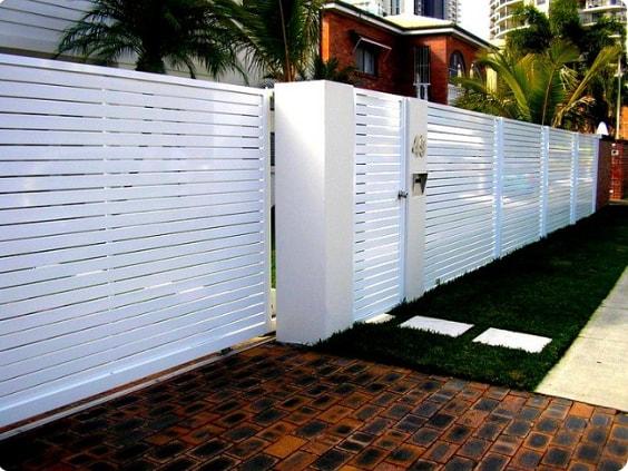 white aluminum fence ideas 1