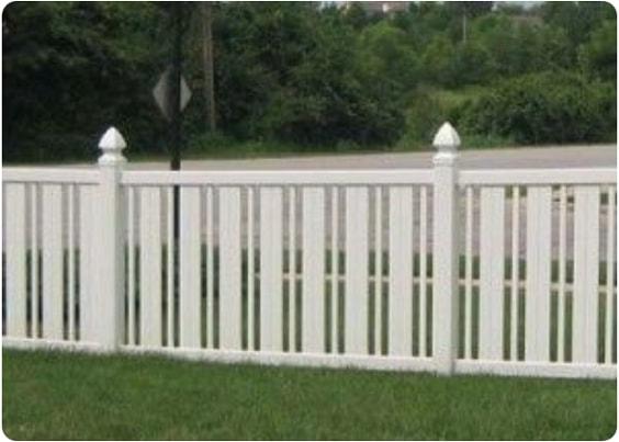 white aluminum fence ideas 10