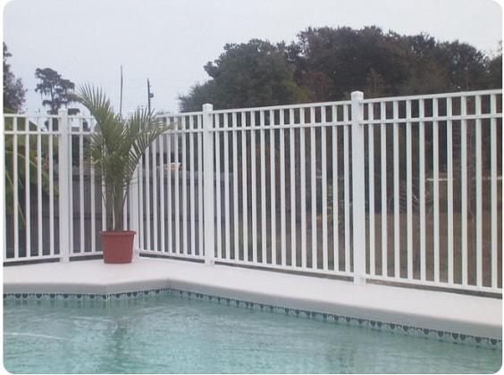 white aluminum fence ideas 11