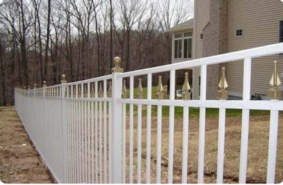 white aluminum fence ideas 13