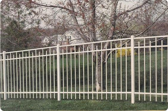 white aluminum fence ideas 14