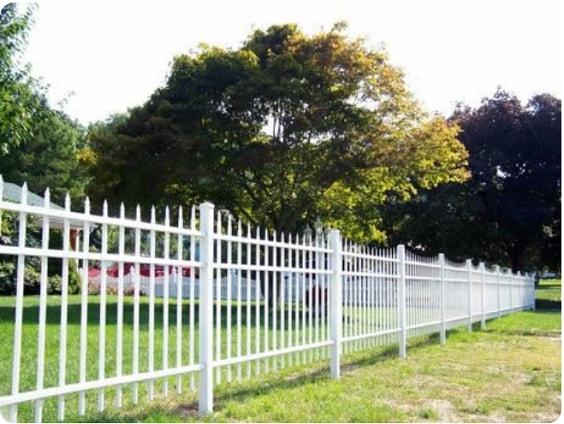 white aluminum fence ideas 15