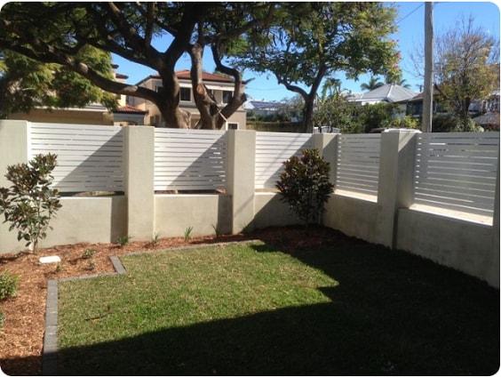 white aluminum fence ideas 16