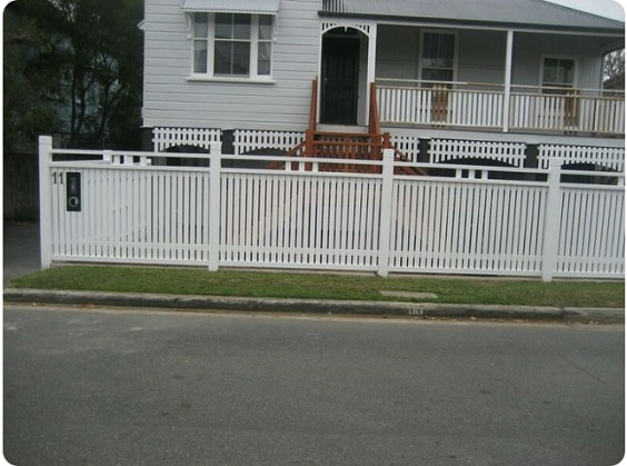 white aluminum fence ideas 17