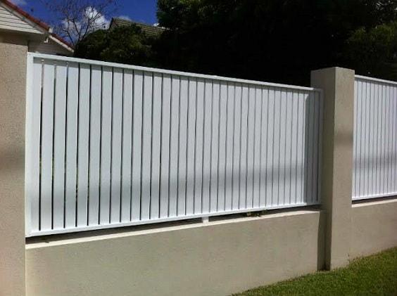 white aluminum fence ideas 19-min