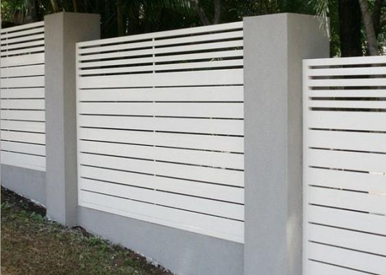 white aluminum fence ideas 2