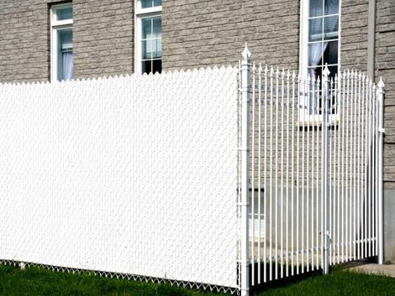 white aluminum fence ideas 22-min