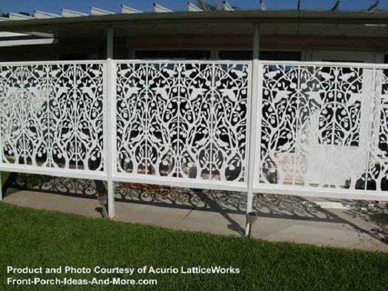 white aluminum fence ideas 25-min