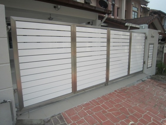white aluminum fence ideas 28-min
