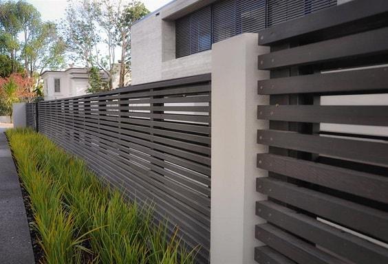 white aluminum fence ideas 29-min