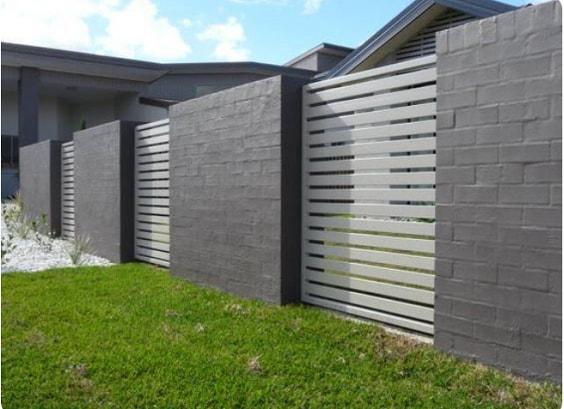 white aluminum fence ideas 3