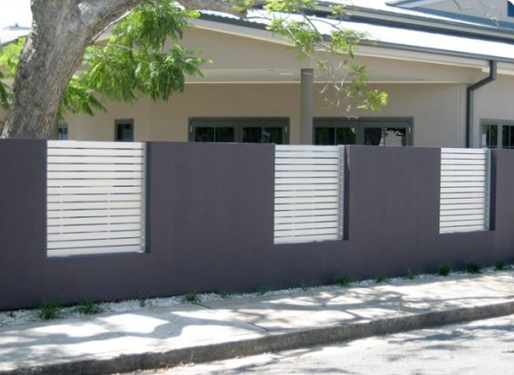 white aluminum fence ideas 4