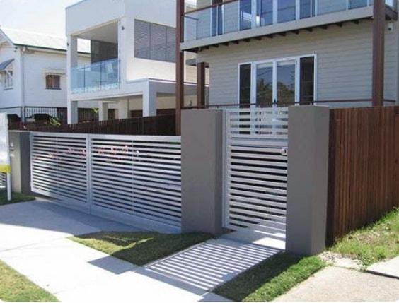 white aluminum fence ideas 5