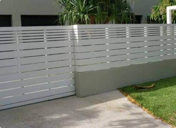 white aluminum fence ideas 6
