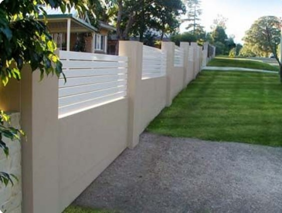 white aluminum fence ideas 7
